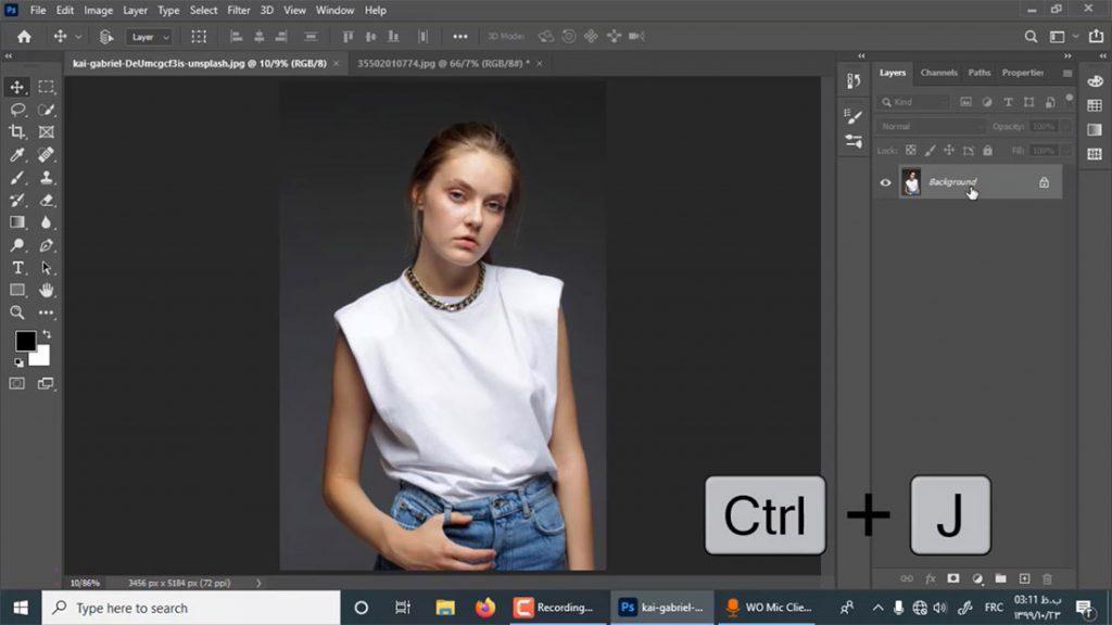 بهترین روش برای قرار دادن عکس یا لوگو روی لباس (تیشرت) در فتوشاپ