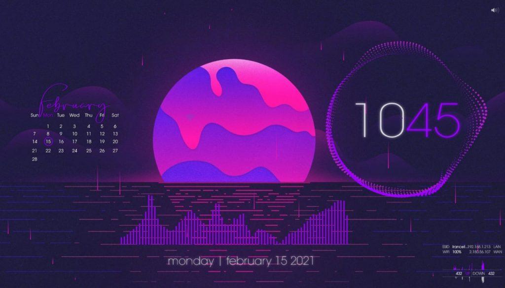 شخصی سازی دسکتاپ ویندوز 10 با نرم افزار rainmeter + لینک دانلود Skin جدید