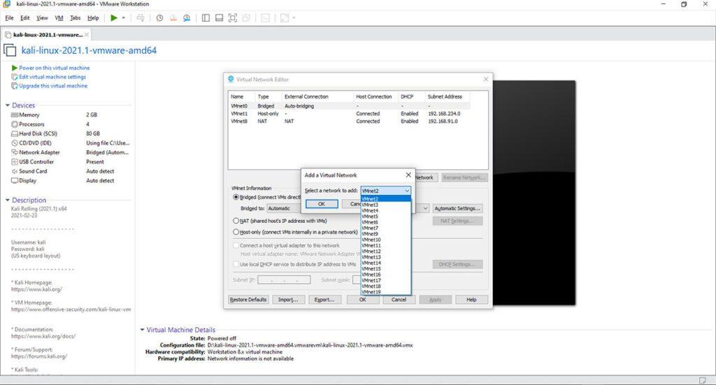 حل مشکل وصل نشدن کالی لینوکس به اینترنت در Vmware